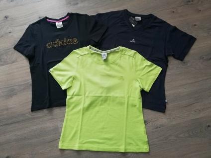 Adidas T-Shirts Tops Set Damen gelb-grün schwarz Top Frauen Sport NEU!