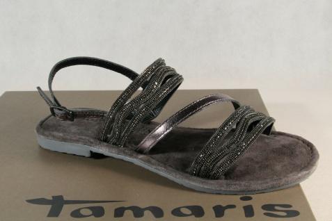 Tamaris Damen Sandale Sandalette bronze Echtleder 28116 NEU!