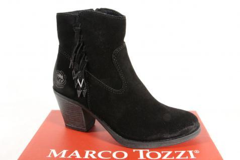 Marco Tozzi Damen Echtleder Stiefel Stiefeletten 25375 Stiefel Echtleder Damen schwarz NEU!! e8e681