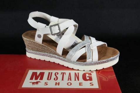 Mustang Damen Sandale Sandalen Sandalette Sandaletten weiß 1317-803 Neu!