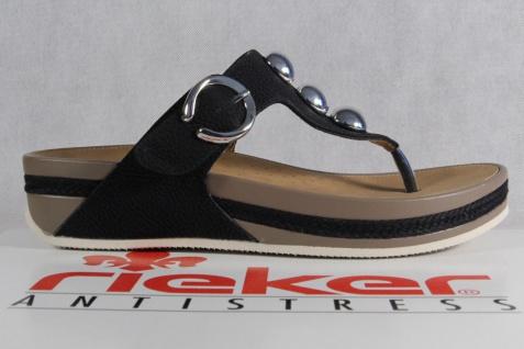Rieker Damen V1490 Zehenstegpantolette Pantolette Sandale Pantoletten V1490 Damen NEU! a5d1de