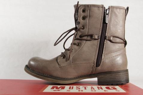 Mustang mit 1139 Stiefel Stiefeletten Stiefel mit Mustang Reißverschluss, taupe, gefüttert NEU a9e064