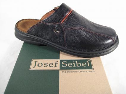 Seibel Clogs Pantoletten Sabot 10999 schwarz Leder weiches Lederfußbett !!!