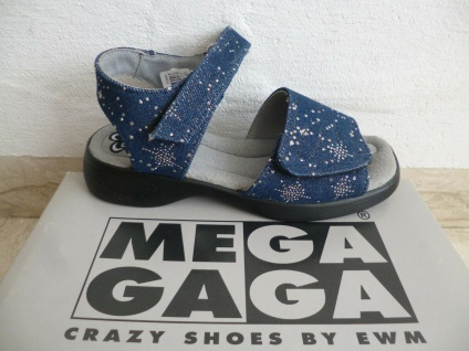 Mega Gaga Mädchen Sandale Sandalen Sandalette Sandaletten blau NEU!!