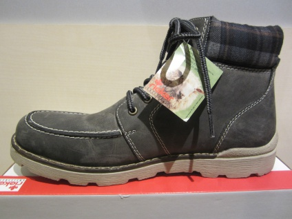 Rieker Stiefel zum Schnüren, grau, NEU Leder, warm gefüttert, 31402 NEU grau, 859257