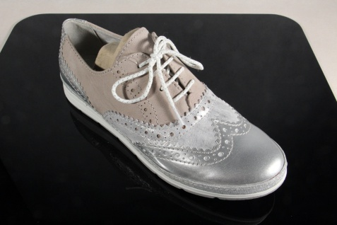 Marco Tozzi Schnürschuhe silber-metalic Sneakers Halbschuhe beige/ silber-metalic Schnürschuhe 23609 NEU! 7c93da