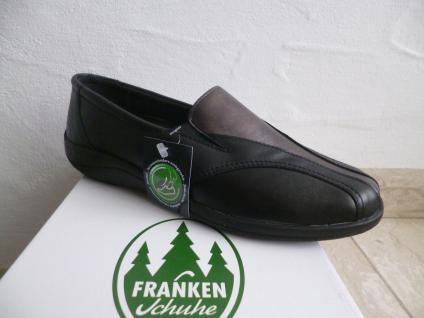 Frankenschuhe Damen Slipper Halbschuhe, Turnschuhes, schwarz Leder Leder Leder NEU! f01269