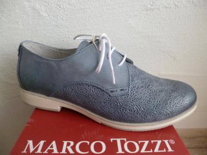 Marco Tozzi Damen Schnürschuhe Sneakers Halbschuhe blau NEU! Beliebte Schuhe