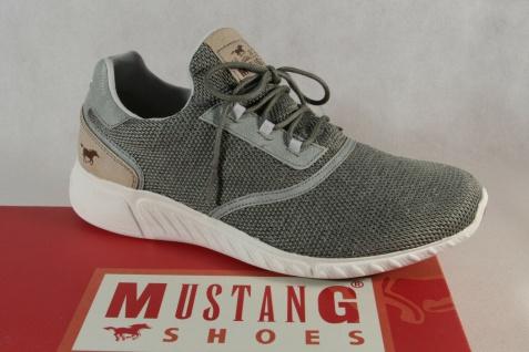 Mustang Slipper Sneakers Sportschuhe Halbschuhe grün Gummisohle 1315 NEU