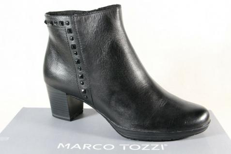 Marco Tozzi Stiefel Stiefelette Stiefeletten schwarz Leder 25388 NEU!