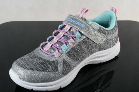 Skechers Sneaker Schnürschuh Sportschuh grau/ rosa Memory Foam NEU - Vorschau 5