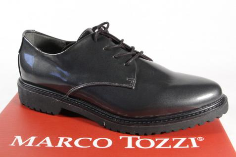 Marco Tozzi 23712 Schnürschuh Sneakers Halbschuhe grau Kunstlack NEU!