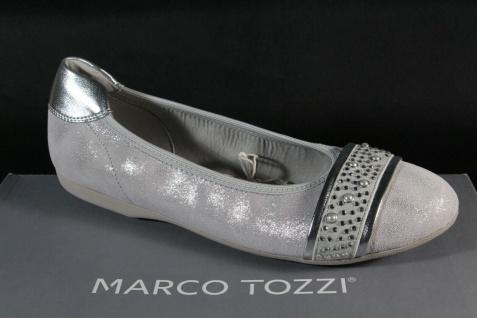 Marco Tozzi Ballerina Slipper Halbschuhe Pumps grau Echtleder 22119 NEU!!