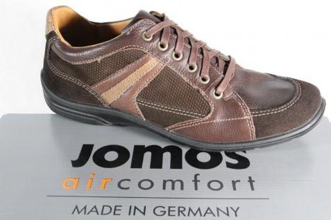 Jomos Halbschuh, Herren Schnürschuh Halbschuh, Jomos Sneaker, Wechselfußbett, braun NEU 8112d7