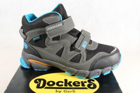 on sale 219d8 925cf Dockers Jungen Stiefel Stiefeletten Boots schwarz/ grau TEX KV NEU