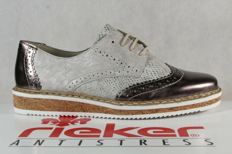 Rieker Damen Schnürschuh Schnürschuhe Sneakers Sportschuhe Halbschuhe grau NEU! - Vorschau 2