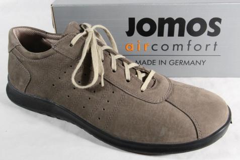 Jomos Herren Schnürschuhe Halbschuhe Sneakers Sportschuhe Leder grau NEU