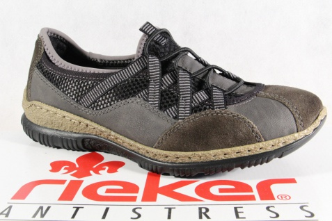 Rieker Slipper Sneakers Halbschuhe Memosoft Sportschuhe Ballerina grau N3251 Memosoft Halbschuhe NEU 61f77a