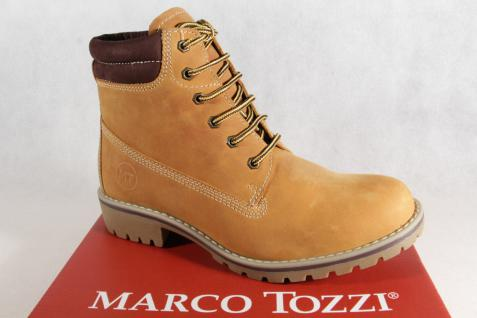 Marco Stiefelette, Tozzi 26248 Damen Stiefel, Stiefelette, Marco Stiefel Echtleder gelb NEU! 150959