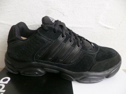 Adidas Schnürschuhe Sneakers Sportschuhe Halbschuhe schwarz Leder NEU
