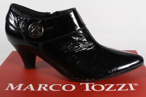 Marco Tozzi Slippers Pumps Halbschuhe NEU!! Lack Kunstleder schwarz NEU!! Halbschuhe ca12e9