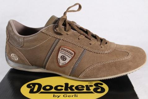 Dockers Sneaker Schnürschuhe Sneaker Dockers Halbschuhe braun, Echtleder NEU! 6a9d88