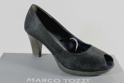 Marco Tozzi Pumps Ballerina Slipper Peep Toe blau NEU! - Vorschau 1