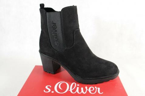 S.Oliver Damen Stiefel Stiefelette Boots Schlupfstiefel schwarz 25413 NEU!