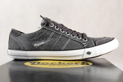 Dockers grau Herren Slipper Sportschuhe Sneakers grau Dockers Textil NEU! 9e355d
