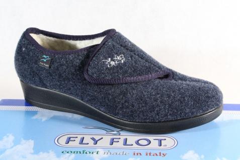 Fly Flot Damen Hausschuh Hausschuhe Pantoffel blau Neu!