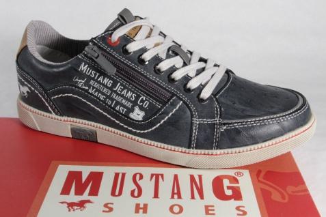 Mustang Herren Schnürschuhe Sneakers Halbschuhe 4073 grau / stein NEU!