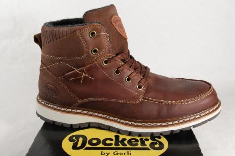 Dockers Stiefel Stiefel Schnürstiefel Stiefel Dockers Winterstiefel braun Leder NEU 161b0f