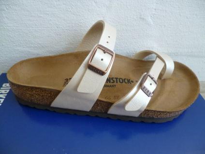 Birkenstock Mayari Pantolette Sandale Graceful Pearl White 71661 NEU!