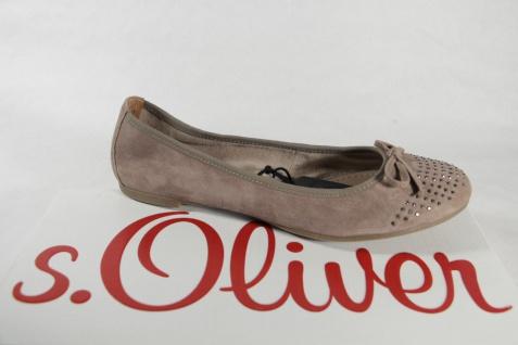 S.Oliver Ballerina Slipper Pumps beige grau, Lederinnensohle, Velourleder NEU!!