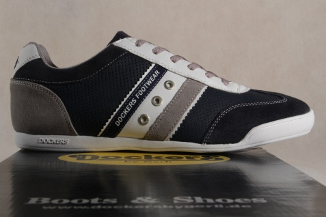 Dockers Herren Schnürschuhe Sneaker Echtleder blau 28PE999 NEU!