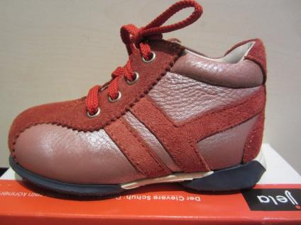 Jela LL-Stiefel rot Lederfußbett Neu !!!