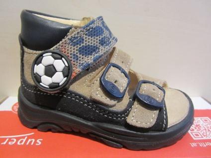 Superfit LL-Sandale braun/blau Lederfußbett Neu !!!
