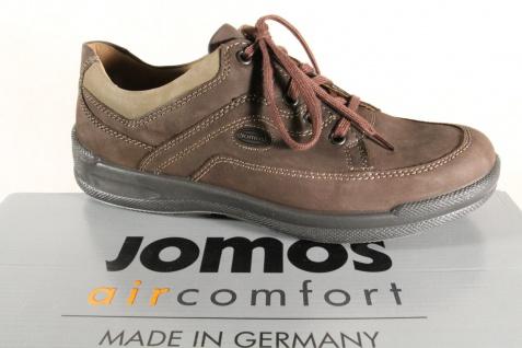 Jomos aircomfort Herren Schnürschuhe 419205 Sneakers Halbschuhe braun Leder NEU