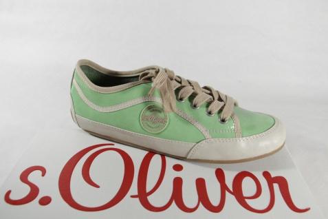S.Oliver Damen Lederinnensohle Schnürschuh, Sneaker hellgrün, weiche Lederinnensohle Damen NEU! 8f5e7e