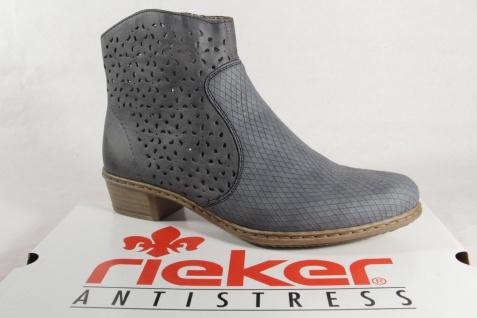 Rieker Stiefel Y0766 Damen Stiefel Stiefelette Stiefel Rieker blau Reißverschluss NEU 659073