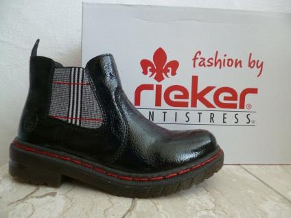 Rieker Damen Stiefel Stiefelette Stiefeletten Boots schwarz Lack 76264 NEU! - Vorschau 5