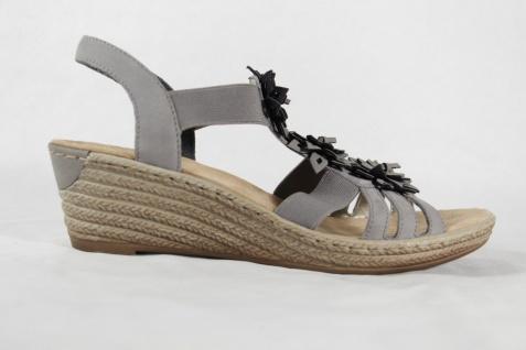 Rieker Damen NEU!! Sandale grau, weiche Innensohle, NEU!! Damen 32688e