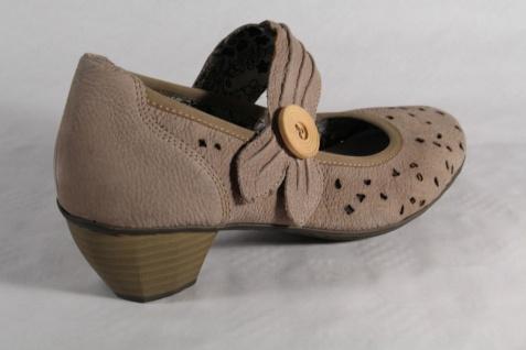Rieker Slipper Ballerina Halbschuhe Halbschuhe Halbschuhe Pumps weiche Lederinnensohle, beige NEU Beliebte Schuhe e72481