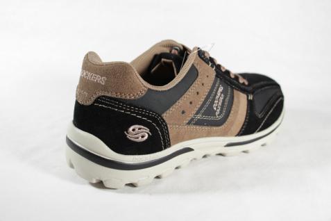 Dockers schwarz Herren Schnürschuhe Halbschuhe Sneakers schwarz Dockers / braun Leder NEU! 60cf9a