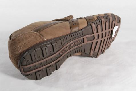 Skechers Schnürschuhe Sneakers braun, Leder Leder braun, NEU! 602146