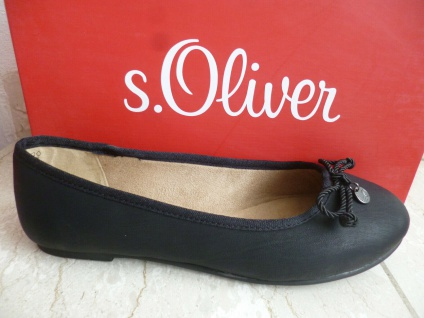 s.Oliver Ballerina Slipper Ballerinas Pumps schwarz 22121 Neu!