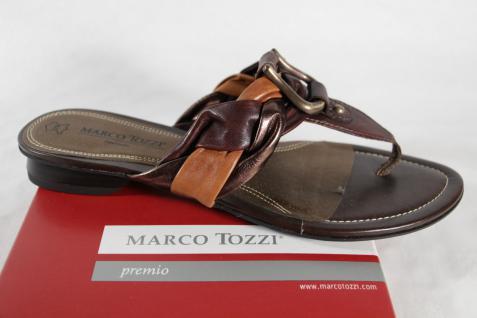 Marco Tozzi Zehenstegpantolette, braun NEU! NEU! NEU! 6b4b45