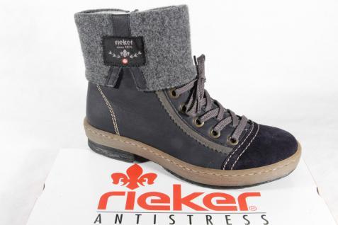 Rieker Damen Stiefel Z6774 Boots Stiefelette Winterstiefel blau NEU
