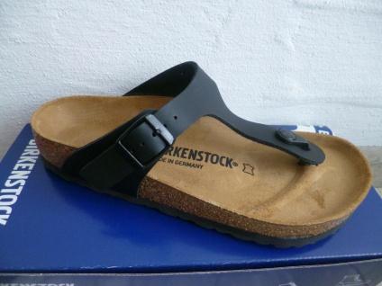 Birkenstock Gizeh Zehen Trenner Pantolette Sandale schwarz 0043691 NEU!