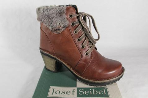 Josef Seibel Stiefel, Stiefelette, Schnürstiefel mit RV, braun, gefüttert, NEU